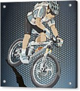 Mountainbike Sports Action Grunge Color Acrylic Print