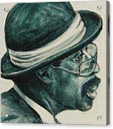 Mr Bowler Mustache Acrylic Print