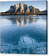 Mt. Michener And Ice On Abraham Lake Acrylic Print
