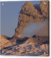 Mt Ruapehu 1996 Eruption New Zealand Acrylic Print