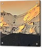 Mt. Shasta Sunset Panorama Acrylic Print