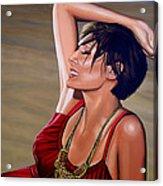 Natalie Imbruglia Painting Acrylic Print