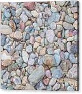 Natural Rock Pebble Backgorund Acrylic Print