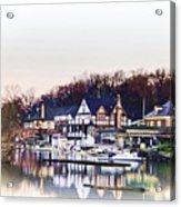 On Boathouse Row Acrylic Print