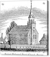 New Jersey Church, 1844 Acrylic Print
