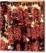 New Mexico Red Chili Ristra And Gralic Acrylic Print