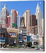 New York New York Casino Acrylic Print