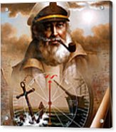 News  Map Captain 5 Or  Sea Captain Acrylic Print
