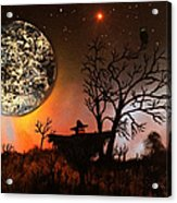 Night Of The Scarecrow  Acrylic Print