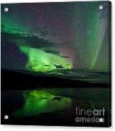 Night Sky Stars Clouds Northern Lights Mirrored Acrylic Print