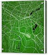 Nuremberg Street Map - Nuremberg Germany Road Map Art On Colored Acrylic Print