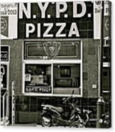 N.y.p.d. Pizza Acrylic Print