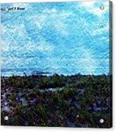 Ocean As A Painting Acrylic Print