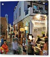 Oia Town During Dusk Time Acrylic Print