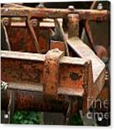 Old Mowing Machine Acrylic Print