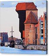 Old Port Crane In Gdansk Acrylic Print