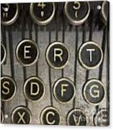 Old Typewrater Acrylic Print by Bernard Jaubert