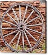 Old Wagon Wheel 2 Acrylic Print