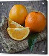 Orange Fruit Acrylic Print by Sabino Parente