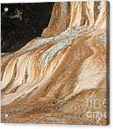 Orange Spring Mound At Mammoth Hot Springs Acrylic Print