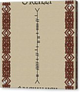 O'reilly Written In Ogham Acrylic Print