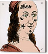 Ornamental Patches On Face 17th Century Acrylic Print