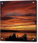 Outer Banks Sunset Over Bay And Colington Island Acrylic Print