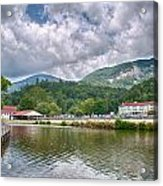 Overlooking Chimney Rock And Lake Lure Acrylic Print