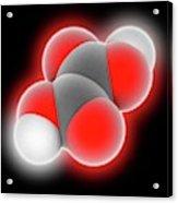 Oxalic Acid Molecule Acrylic Print