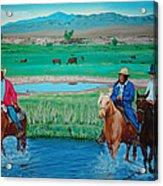 Paiute Cattlemen Acrylic Print