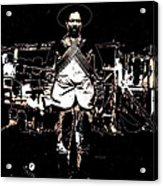 Pancho Villa With Cross Thatched Bandolier Rebel Camp No Locale Or Date-2013 Acrylic Print