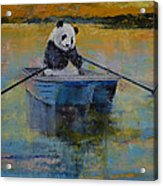 Panda Reflections Acrylic Print by Michael Creese