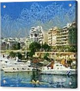 Panoramic Painting Of Pasalimani Port Acrylic Print