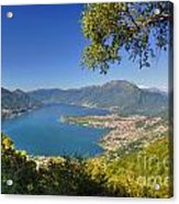 Panoramic View Over An Alpine Lake Acrylic Print