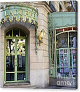 Paris Laduree Macaron French Bakery Patisserie Tea Shop - Champs Elysees - The Laduree Patisserie Acrylic Print