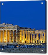 Parthenon In Acropolis Of Athens During Dusk Time Acrylic Print