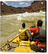 Passenger View Of People Rafting Acrylic Print