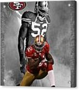 Patrick Willis 49ers Acrylic Print by Joe Hamilton