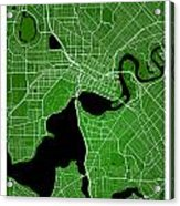 Perth Street Map - Perth Australia Road Map Art On Colored Backg Acrylic Print