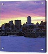 Philadelphia Skyline At Dusk Acrylic Print