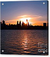 Philadelphia Sunset Acrylic Print