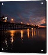 Pier In The Pacific Ocean At Dusk, San Acrylic Print