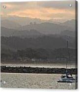 Pillar Point Harbor Below Half Moon Bay Hills Acrylic Print