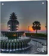 Pineapple Sunrise Acrylic Print
