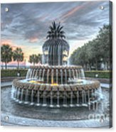 Majestic Sunset In Waterfront Park Acrylic Print