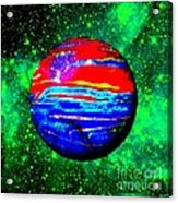 Planet Disector Red 1 Acrylic Print