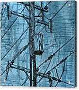 Pole With Transformer Acrylic Print