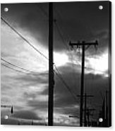 Poles And Sunsets Acrylic Print