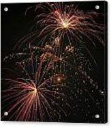 2 Pop Fireworks Acrylic Print