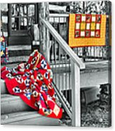Porch Of Many Colors Acrylic Print